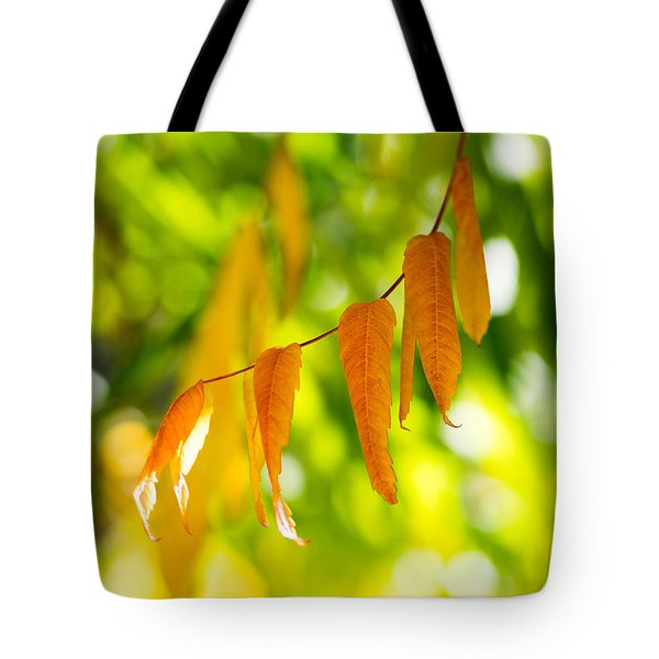 Tote Bag featuring the photograph Turning Autumn by Aaron Aldrich