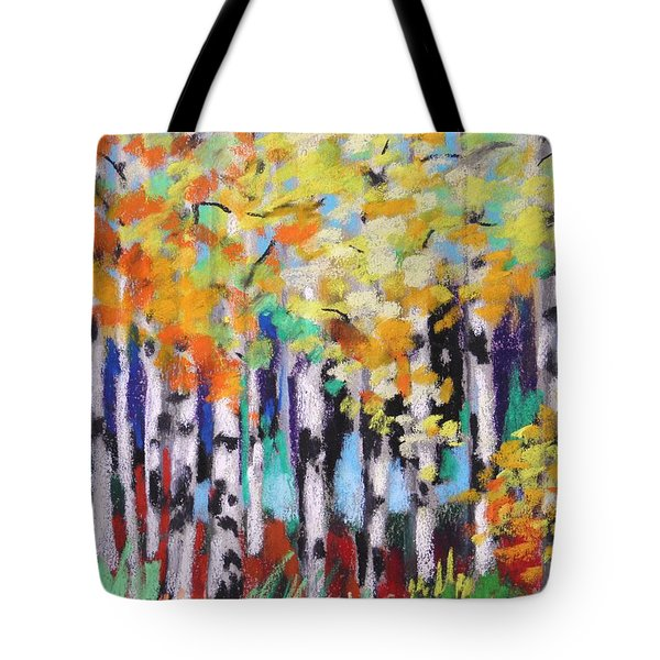 Turning Birches Tote Bag by John Williams