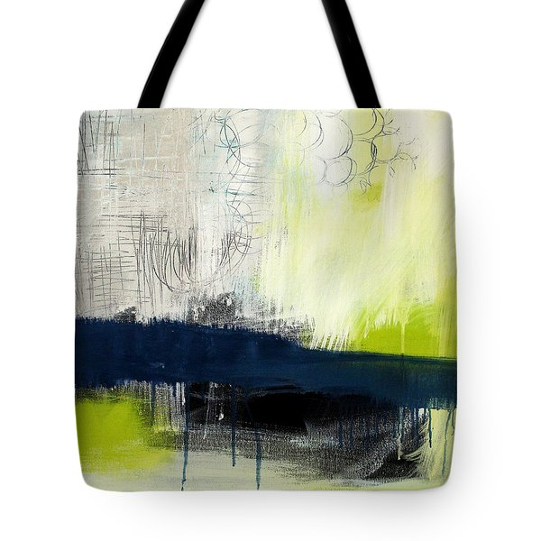 Turning Point - Contemporary Abstract Painting Tote Bag by Linda Woods