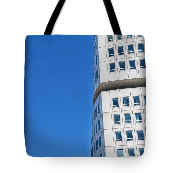 Turning Torso Skyscraper Tote Bag by Antony McAulay