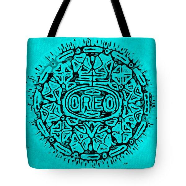 Turquoise Oreo Tote Bag