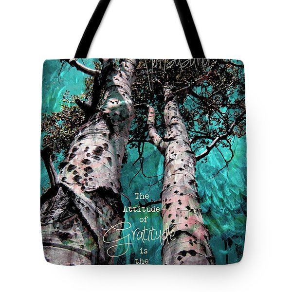 Turquois Trees  Tote Bag