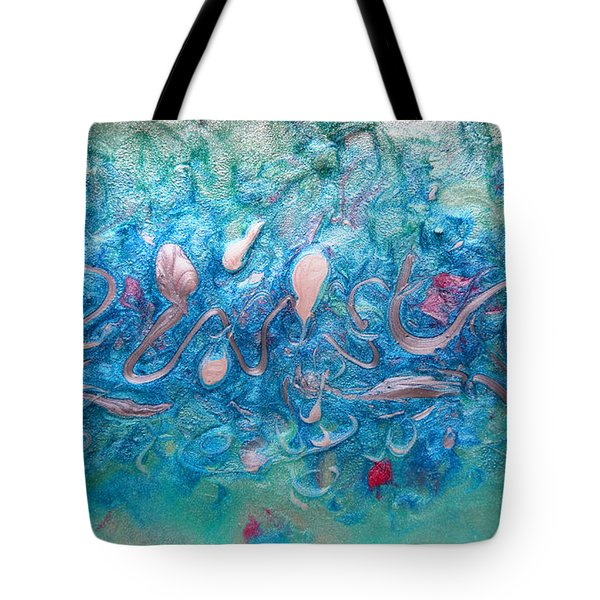 Turquoise Blue Sea Abstract Tote Bag