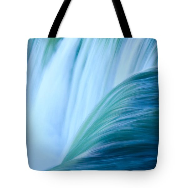 Tote Bag featuring the photograph Turquoise Blue Waterfall by Peta Thames