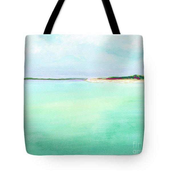 Turquoise Caribbean Beach Horizontal Tote Bag