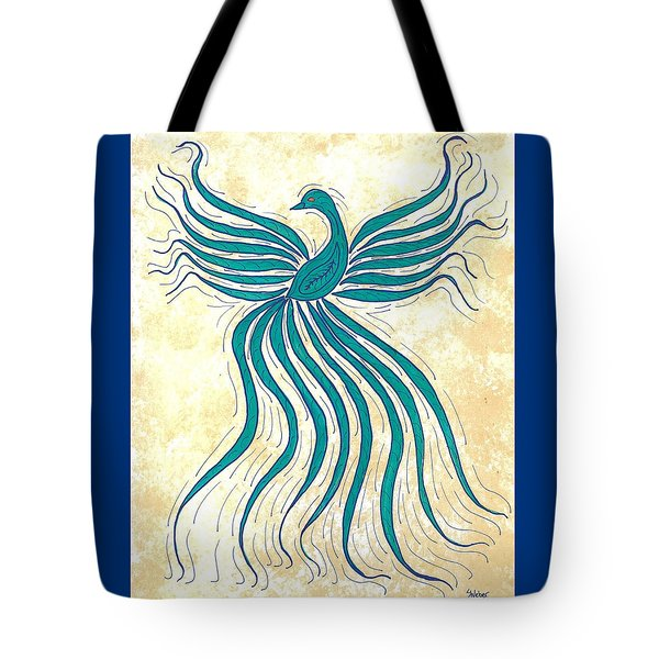 Turquoise Flutter Tote Bag by Susie WEBER