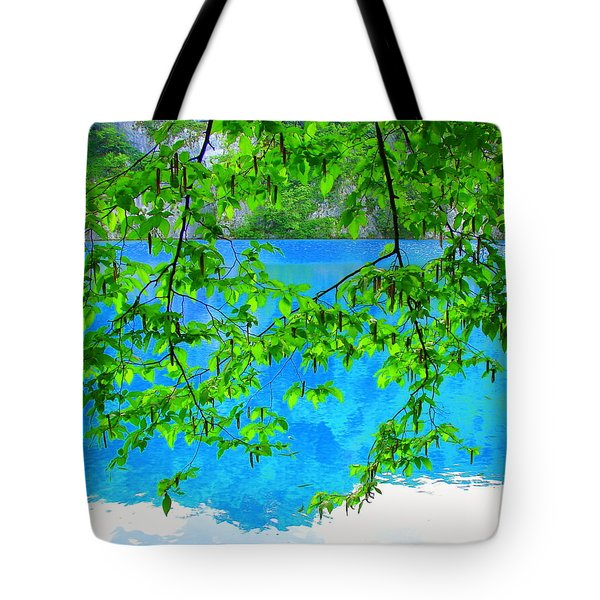 Tote Bag featuring the photograph Turquoise Lake by Ramona Johnston