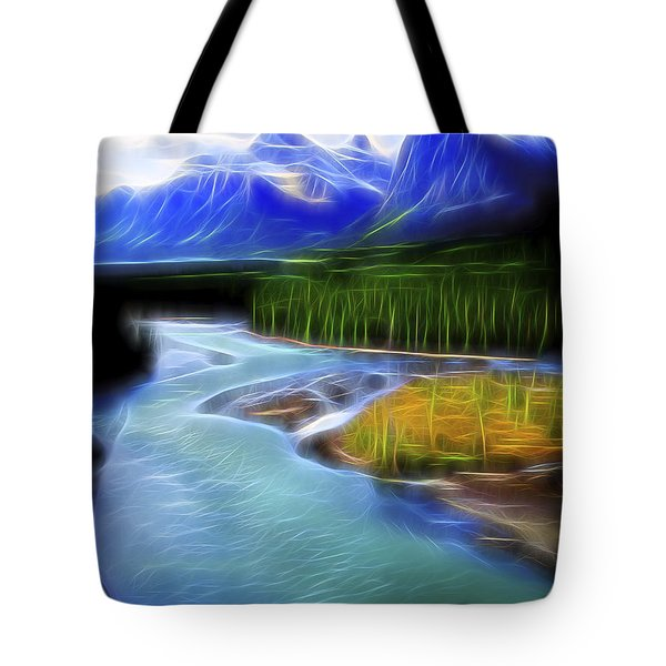 Turquoise Light 1 Tote Bag by William Horden