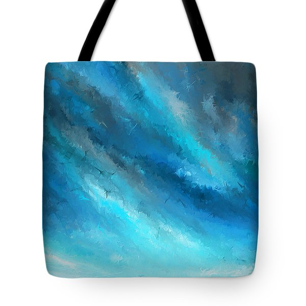 Turquoise Memories - Turquoise Abstract Art Tote Bag