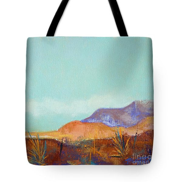 Turquoise Mountains Tote Bag by Tracy L Teeter
