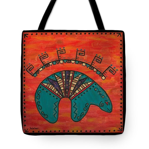 Turquoise Oso Bear Fetish Tote Bag by Susie WEBER