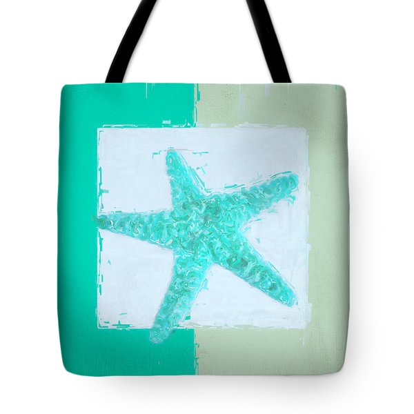 Turquoise Seashells Ix Tote Bag by Lourry Legarde