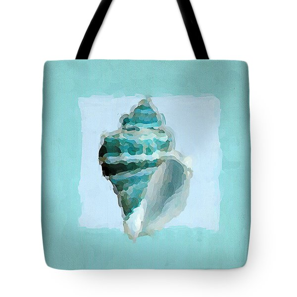 Turquoise Seashells Viii Tote Bag by Lourry Legarde