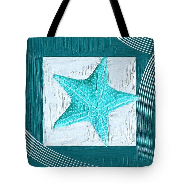 Turquoise Seashells Xviii Tote Bag