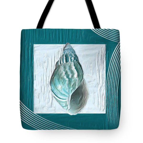 Turquoise Seashells Xx Tote Bag by Lourry Legarde