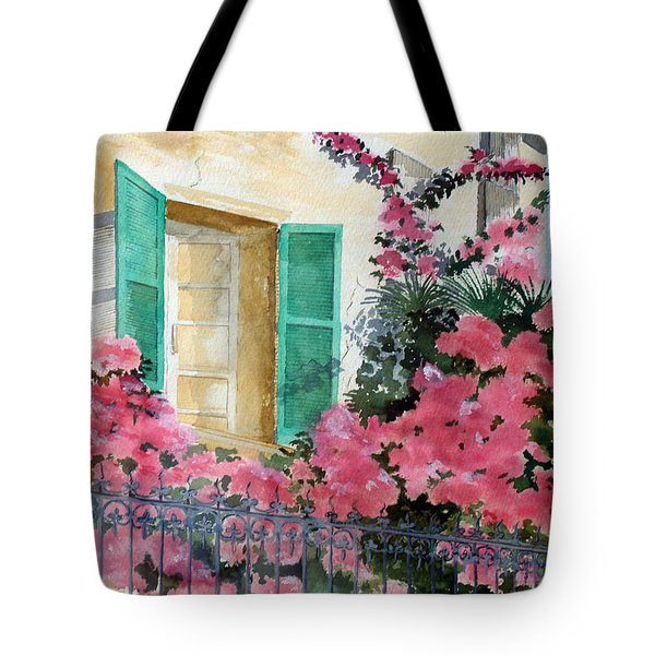 Turquoise Shutters Tote Bag by Susan Crossman Buscho
