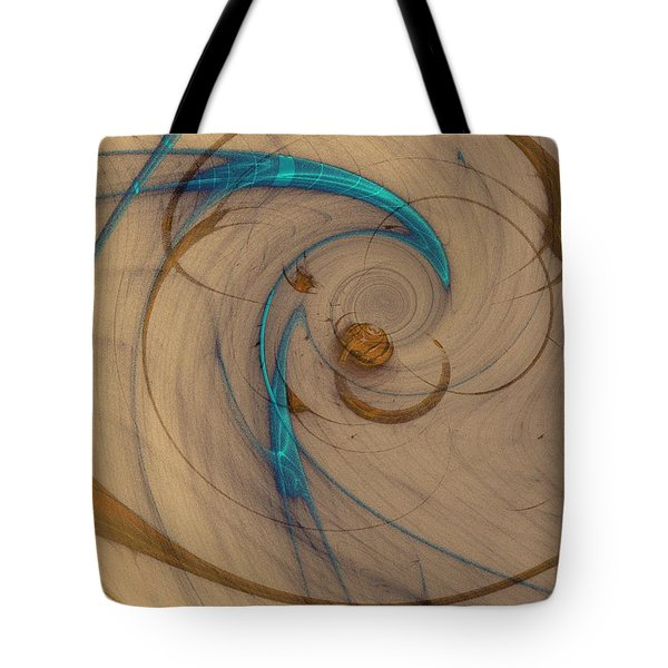 Turquoise Spiral Tote Bag