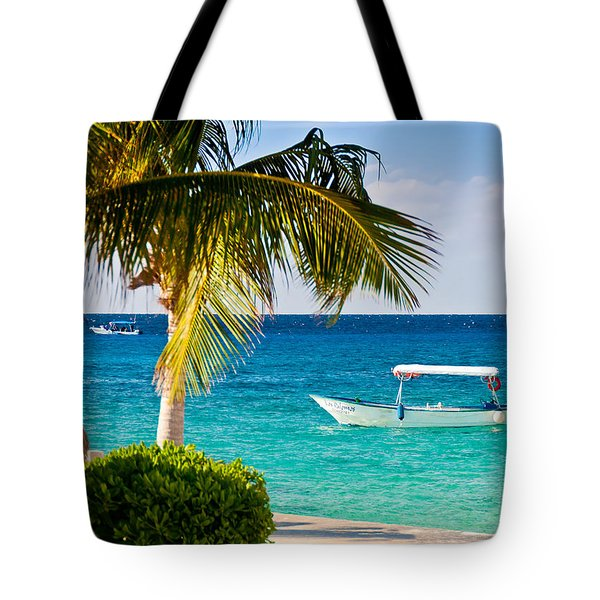 Turquoise Waters In Cozumel Tote Bag