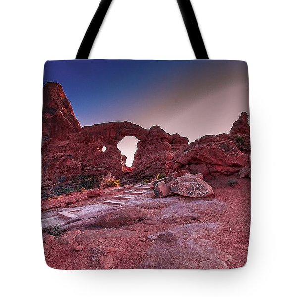Turret Arch Tote Bag by Tim Bryan