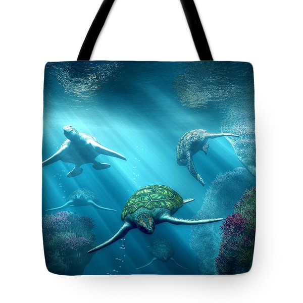 Turtle Alley Tote Bag