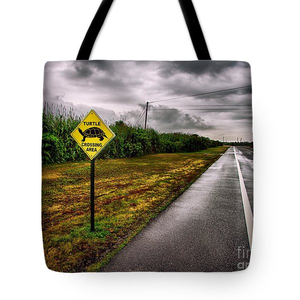 Turtle Crossing Area Tote Bag