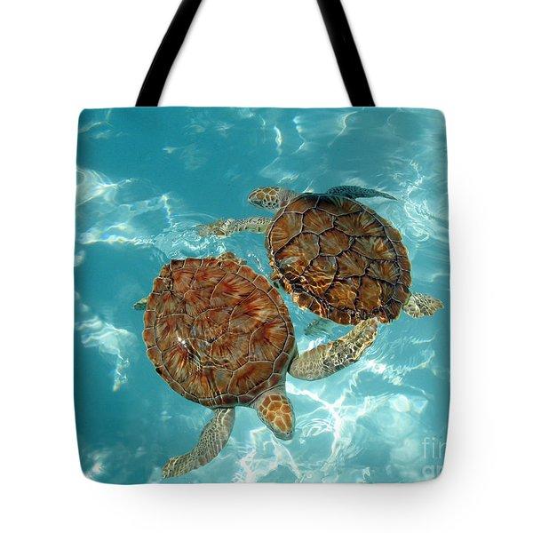 Turtle Dance Tote Bag by Irina Davis