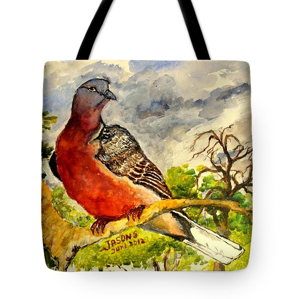 Turtle - Dove Tote Bag