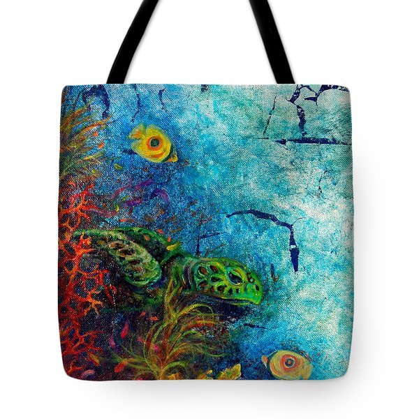 Turtle Wall 1 Tote Bag