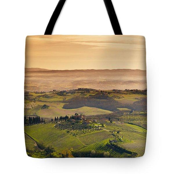 Tuscan Countryside Tote Bag