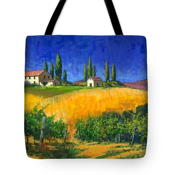 Tuscan Evening Tote Bag by Michael Swanson