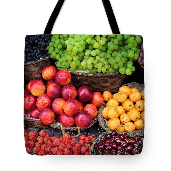 Tuscan Fruit Tote Bag by Inge Johnsson