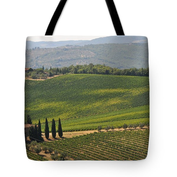 Tote Bag featuring the photograph Tuscan Hillside by Susie Rieple