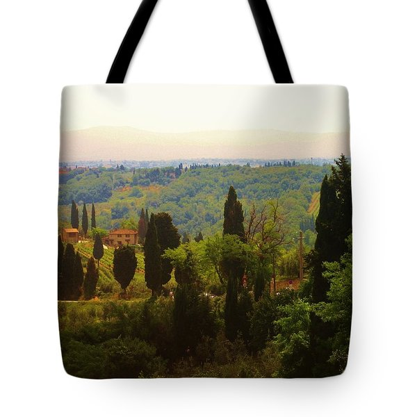 Tote Bag featuring the photograph Tuscan Landscape by Dany Lison