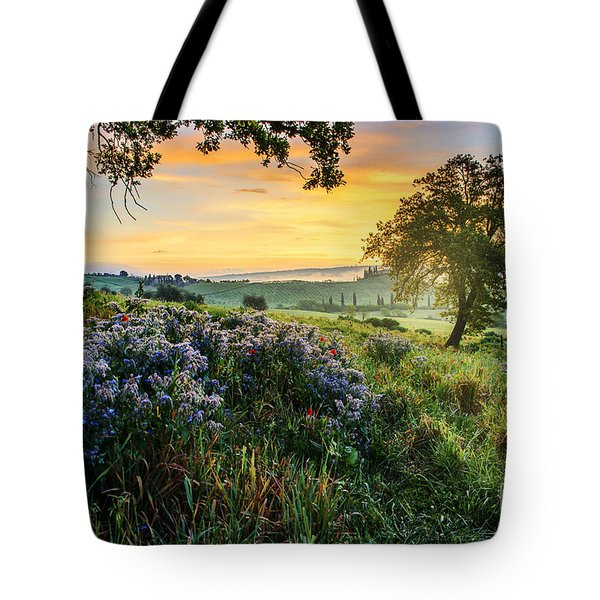 Tote Bag featuring the photograph Tuscan Landscape by Yuri Santin