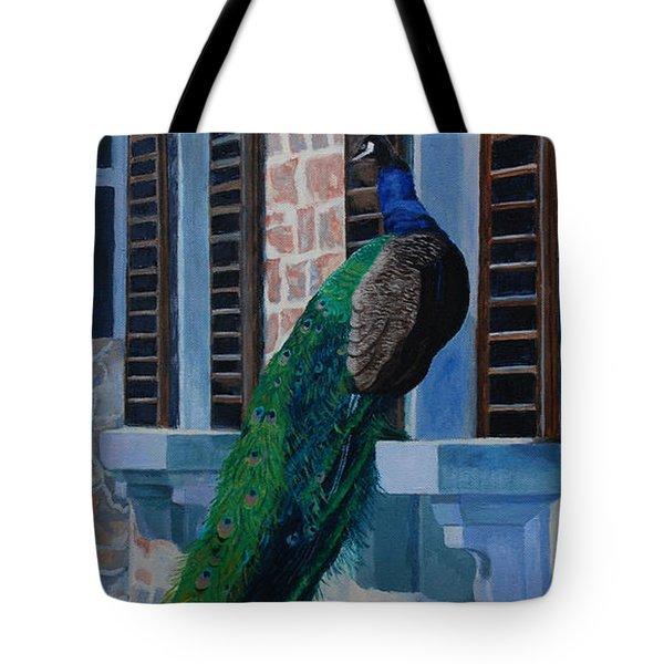 Tuscan Mascot Tote Bag by Lynne Reichhart
