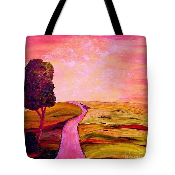 Tote Bag featuring the painting Tuscan Skies ... An Impressionist View by Eloise Schneider