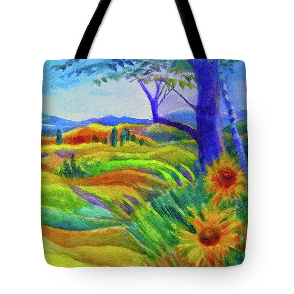Tuscan Sunflowers Tote Bag
