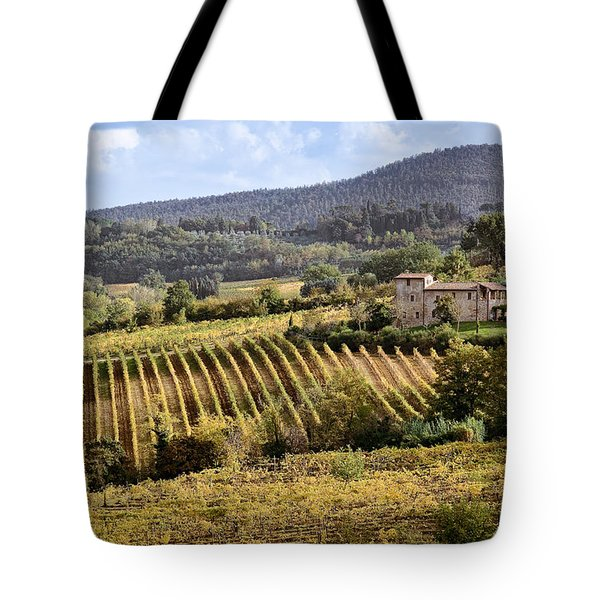 Tuscan Valley Tote Bag by Dave Bowman