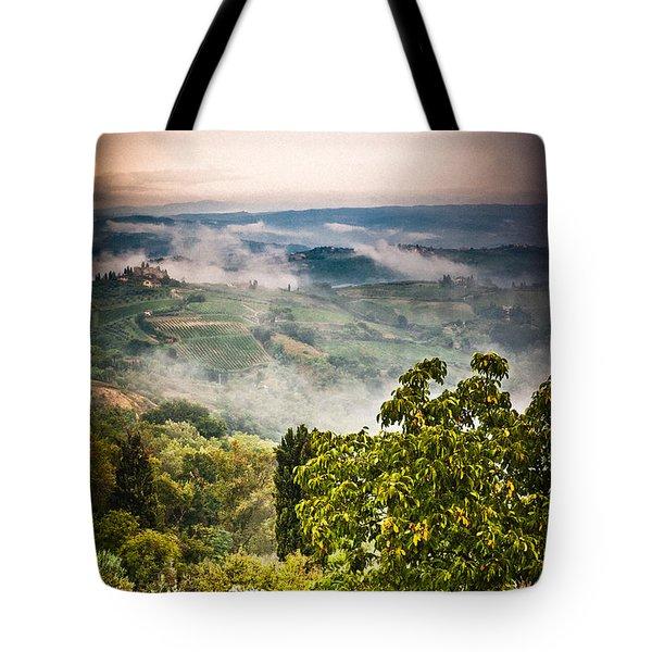 Tuscan View Tote Bag by Silvia Ganora