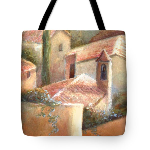 Tote Bag featuring the painting Tuscan Village by Michael Rock