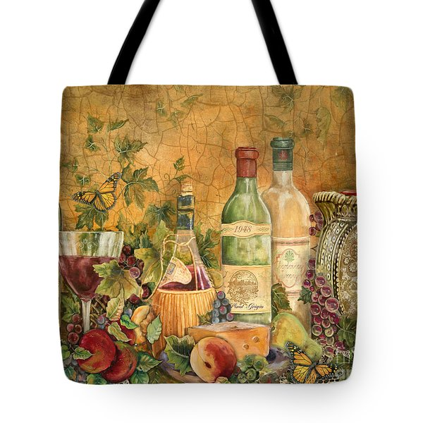 Tuscan Wine Treasures Tote Bag by Jean Plout