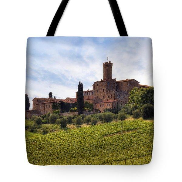 Tuscany- Castello Di Poggio Alla Mura Tote Bag