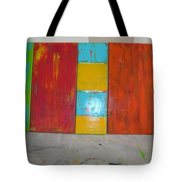 Tote Bag featuring the painting Tuscany Seasons by Sharyn Winters