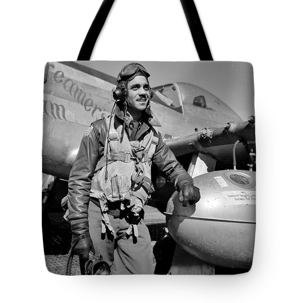 Tuskegee Airman Tote Bag by Benjamin Yeager