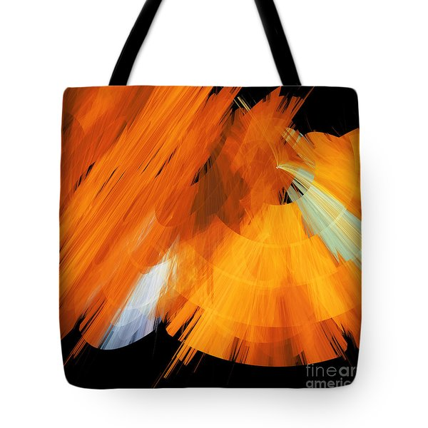 Tutu Stage Left Abstract Orange Tote Bag by Andee Design