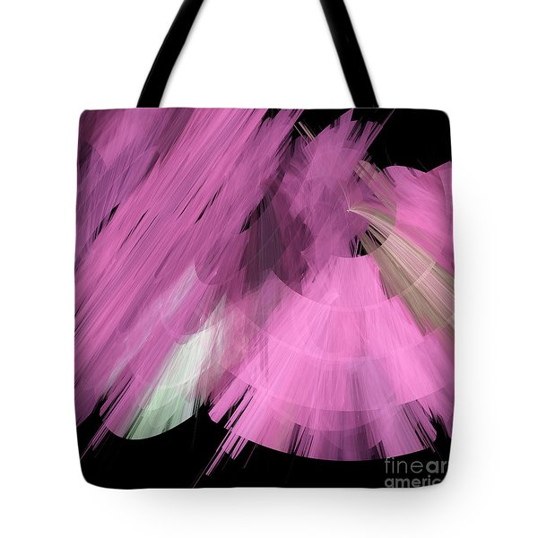 Tutu Stage Left Abstract Pink Tote Bag by Andee Design