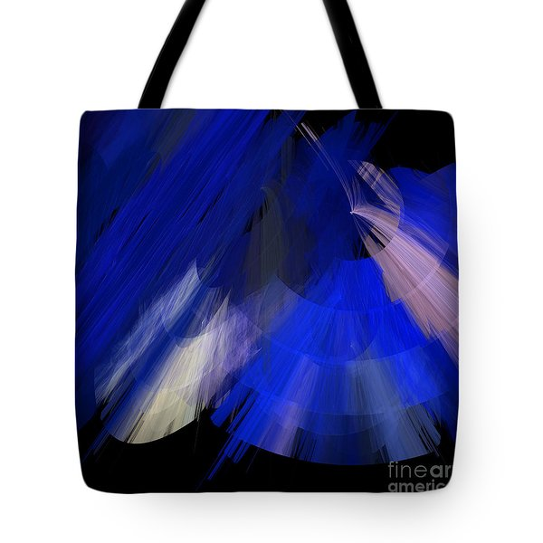 Tutu Stage Left Blue Abstract Tote Bag by Andee Design