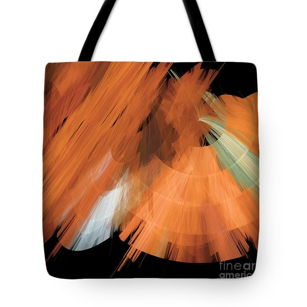 Tutu Stage Left Peach Abstract Tote Bag by Andee Design
