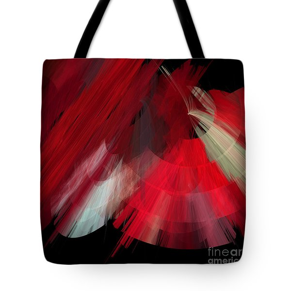 Tutu Stage Left Red Abstract Tote Bag by Andee Design