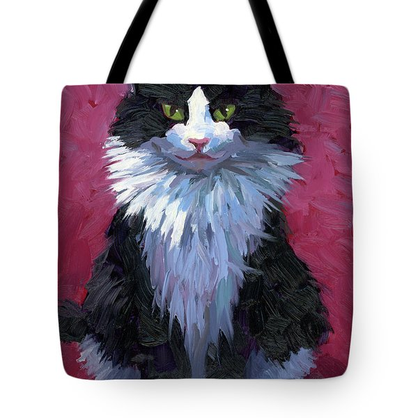 Tuxedo Cat Tote Bag by Alice Leggett